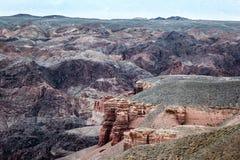 Canyon di Charyn kazakhstan Immagine Stock