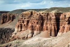Canyon di Charyn kazakhstan Fotografie Stock Libere da Diritti