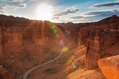 Canyon di Charyn nella regione di Almaty di Kazakistan Fotografie Stock