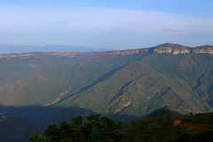 Canyon di Chicamocha vicino a Bucaramanga, Colombia Fotografie Stock Libere da Diritti