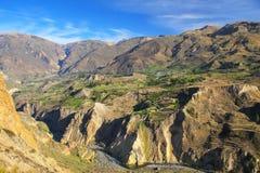 Canyon di Colca nel Perù Fotografia Stock Libera da Diritti