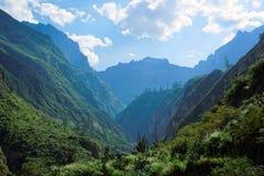 Canyon di Colca nella regione di Arequipa fotografia stock