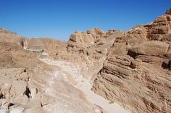 Canyon di colore nell'Egitto immagini stock