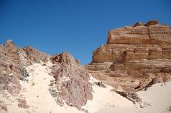 Canyon di colore nell'Egitto immagini stock libere da diritti