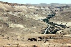 Canyon di Ein Avdat. L'Israele. Fotografia Stock