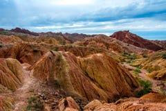 Canyon di fiaba di Skazka aka, Kirghizistan fotografia stock libera da diritti