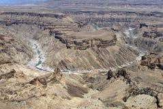 Canyon di Fishriver, Namibia Immagini Stock