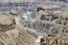Canyon di Fishriver, Namibia Fotografie Stock