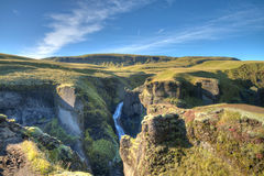 Canyon di Fjadrargljufur Immagine Stock Libera da Diritti