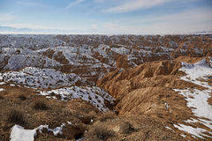 Canyon di giallo del canyon di Zhabyr Fotografia Stock