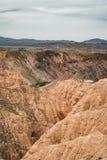 Canyon di giallo del canyon di Zhabyr in parco nazionale Charyn, il Kazakistan immagini stock libere da diritti