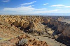 Canyon di giallo di Zhabyr del canyon Fotografia Stock Libera da Diritti