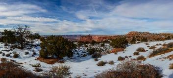 Canyon di inverno in Arizona Fotografia Stock