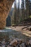 Canyon di Johnston nel parco nazionale di Banff - Canada Fotografia Stock