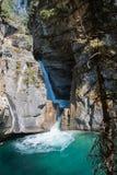 Canyon di Johnston nel parco nazionale di Banff - Canada Fotografia Stock Libera da Diritti