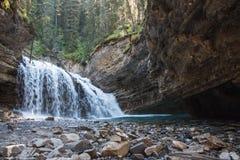 Canyon di Johnston nel parco nazionale di Banff - Canada Immagini Stock Libere da Diritti
