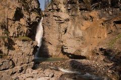 Canyon di Johnston nel parco nazionale di Banff - Canada Fotografie Stock