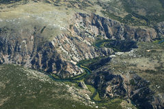 Canyon di Krka Immagini Stock