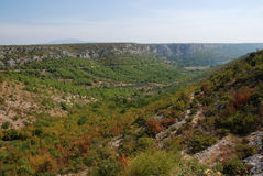 Canyon di Krka Fotografia Stock Libera da Diritti
