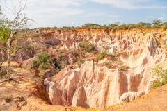 Canyon di Marafa - Kenia Immagini Stock