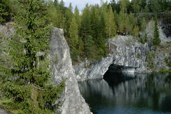 Canyon di marmo, Carelia, Russia Immagini Stock
