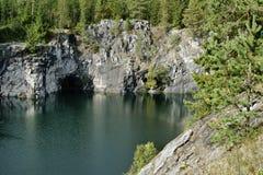 Canyon di marmo, Carelia, Russia Immagine Stock