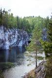 Canyon di marmo Ruskeala Fotografia Stock