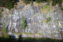 Canyon di marmo Ruskeala Immagini Stock