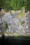 Canyon di marmo Ruskeala Immagine Stock Libera da Diritti