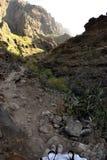 Canyon di Masca tramite un fish-eye Fotografia Stock