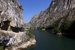 Canyon di Matka - Macedonia Fotografia Stock Libera da Diritti