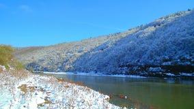 Canyon di Nistro del fiume di Snowy Fotografie Stock Libere da Diritti