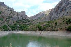 Canyon di Panagia vicino al villaggio di Dolynskoe nella parte sudorientale della penisola della Crimea l'ucraina Il paesaggio di Fotografia Stock