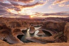 Canyon di riflessione fotografia stock libera da diritti