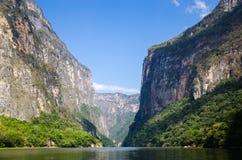 Canyon di Sumidero nel Messico Fotografia Stock Libera da Diritti