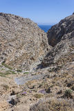 Canyon di Traxoulas, Lendas, Creta Fotografia Stock Libera da Diritti