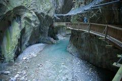 Canyon di Trient fotografie stock libere da diritti