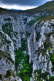 Canyon di Verdon Fotografia Stock