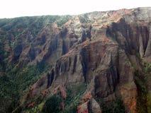 Canyon di Waimea in Helicopter Immagine Stock Libera da Diritti