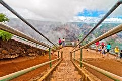 Canyon di Waimea, isola di Kauai, Hawai, U.S.A. Fotografie Stock Libere da Diritti
