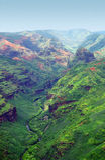 Canyon di Waimea, Kauai, Hawai Fotografia Stock