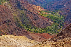 Canyon di Waimea - Kauai, Hawai Fotografie Stock