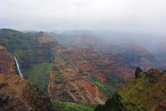 Canyon di Waimea - Kauai, isole hawaiane fotografie stock libere da diritti