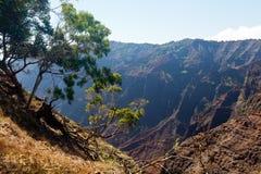 Canyon di Waimea su Kauai Immagine Stock