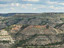 Canyon dipinto, Medora, Nord Dakota Fotografia Stock