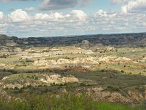 Canyon dipinto, Medora, Nord Dakota Fotografia Stock Libera da Diritti