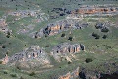 Canyon e Sepulveda di Duraton segovia La Castiglia Leon spain eur Immagine Stock Libera da Diritti
