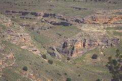 Canyon e Sepulveda di Duraton segovia La Castiglia Leon spain eur Immagini Stock Libere da Diritti