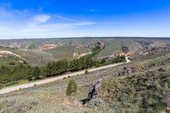 Canyon e Sepulveda di Duraton segovia La Castiglia Leon spain eur Fotografie Stock