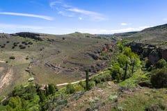 Canyon e Sepulveda di Duraton segovia La Castiglia Leon spain eur Immagini Stock